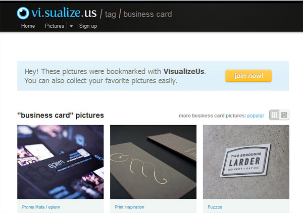 visualizeus 20 Top Business Card Websites