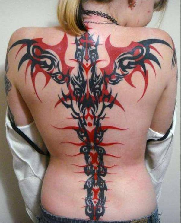 My Finished Tribal Back