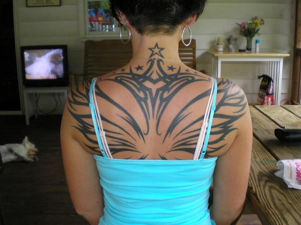 Upper Back Tattoo Style