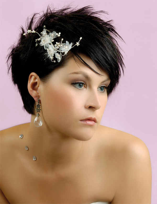 wedding hair short styles 35 lovely wedding hairstyles for hair slodive 5783 | spikes at wedding
