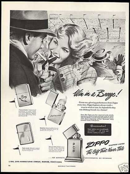 02 zippo One Zip is All it Takes – 21 Zippo Vintage Post war Ads