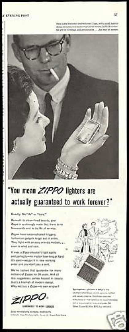 08 zippo One Zip is All it Takes – 21 Zippo Vintage Post war Ads