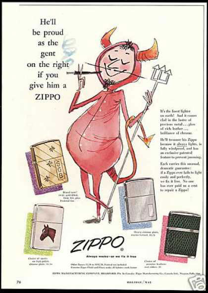 09 zippo One Zip is All it Takes – 21 Zippo Vintage Post war Ads
