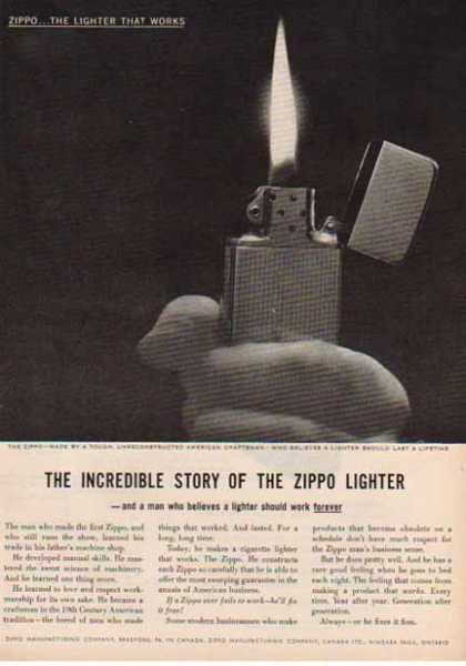 11 zippo One Zip is All it Takes – 21 Zippo Vintage Post war Ads