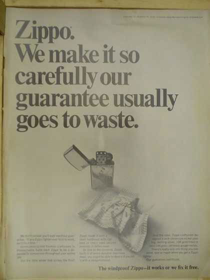 12 zippo One Zip is All it Takes – 21 Zippo Vintage Post war Ads