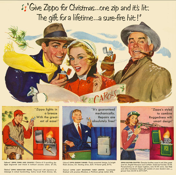 15 zippo One Zip is All it Takes – 21 Zippo Vintage Post war Ads