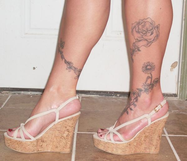 Ankle Foot Tattoo