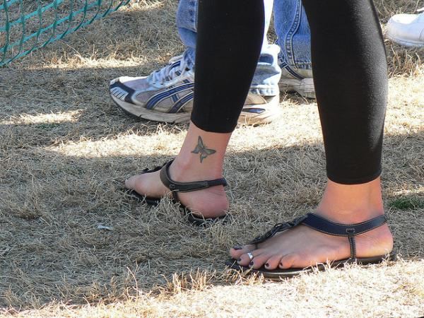 butterfly ankle tattoo 30 Lovely Ankle Tattoos For Women