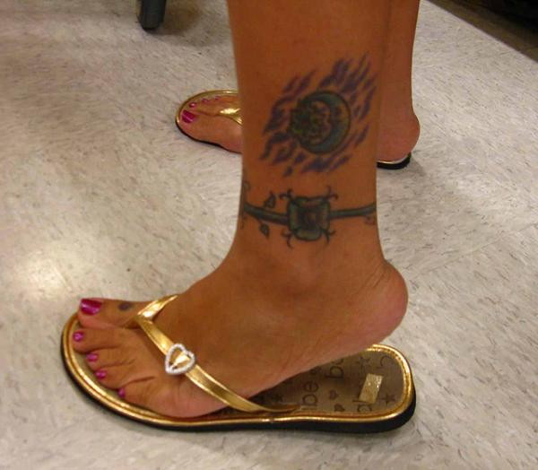 inked ankle 30 Lovely Ankle Tattoos For Women