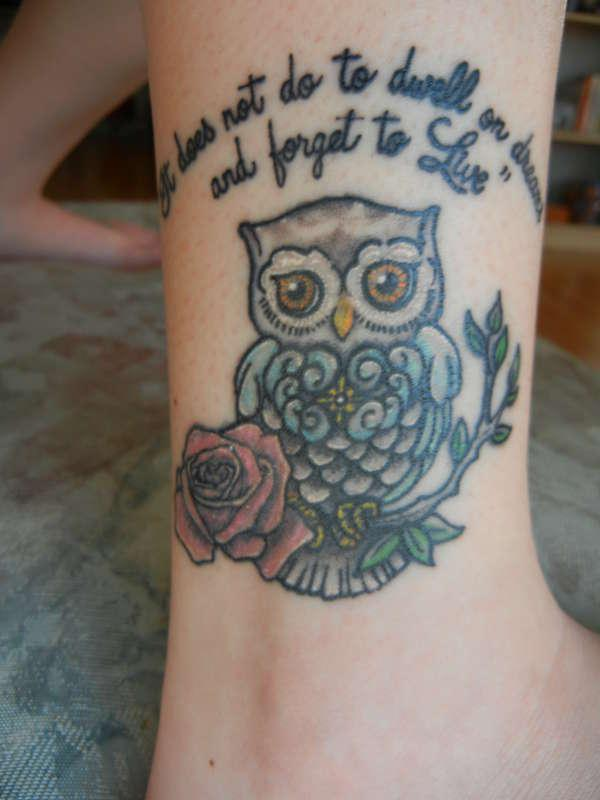 potter tattoo 30 Lovely Ankle Tattoos For Women