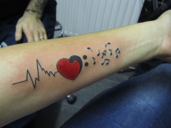 heart beat 40 Awesome Tattoos You Should Check Today