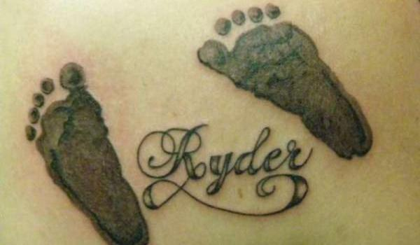 royder footprints 35 Overwhelming Baby Footprint Tattoos