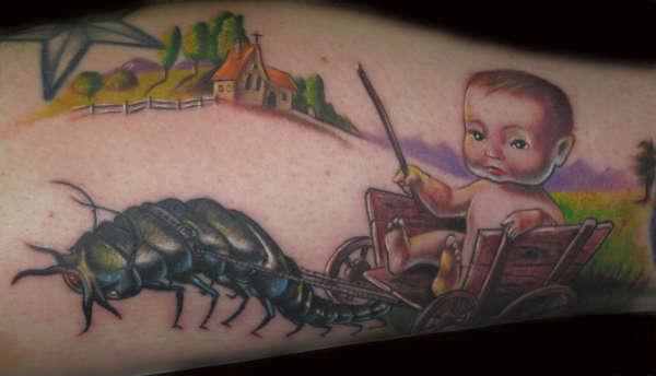 creepy baby 35 Lovely Baby Tattoos