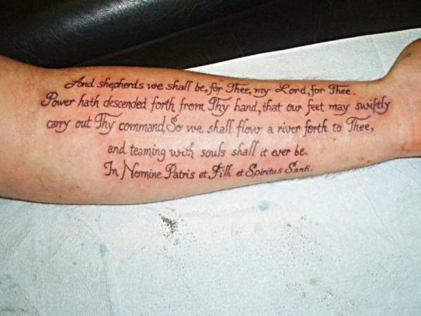 forearm prayer 30 Boondock Saints Tattoos Which Are Really Awesome