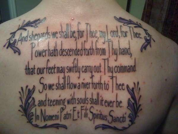 prayer tattooed 30 Boondock Saints Tattoos Which Are Really Awesome