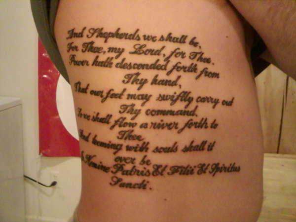rib prayer 30 Boondock Saints Tattoos Which Are Really Awesome