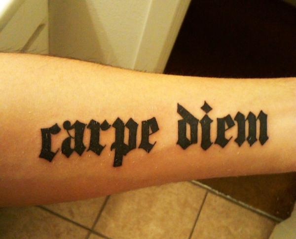 arm carpe diem 30 Majestic Carpe Diem Tattoos