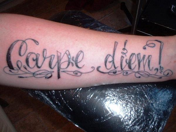 corsiva carpe tattoo 30 Majestic Carpe Diem Tattoos