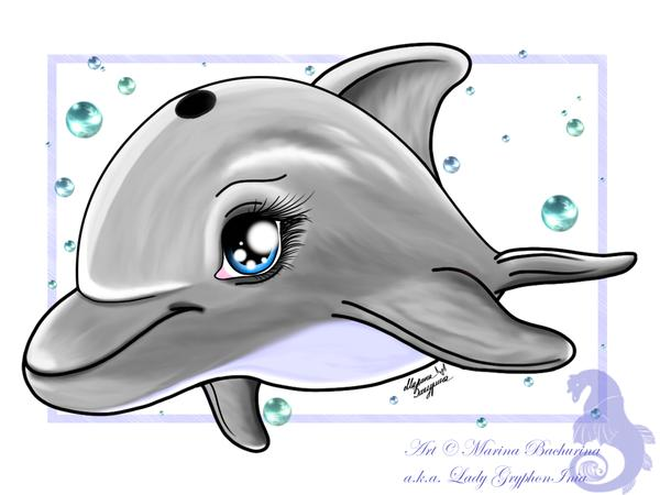 chibi dolphin 25 Superb Cute Cartoon Animals