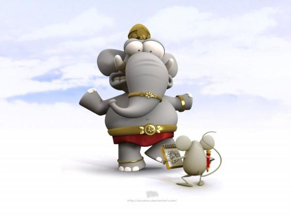 cute elephant 25 Superb Cute Cartoon Animals