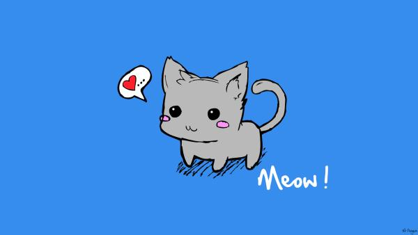 cute kitten 25 Superb Cute Cartoon Animals