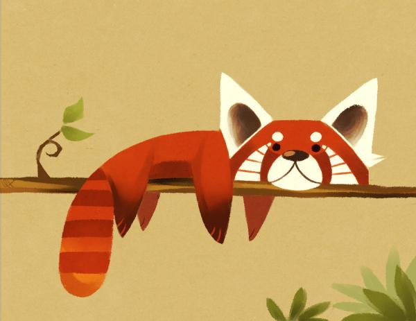 red panda 25 Superb Cute Cartoon Animals