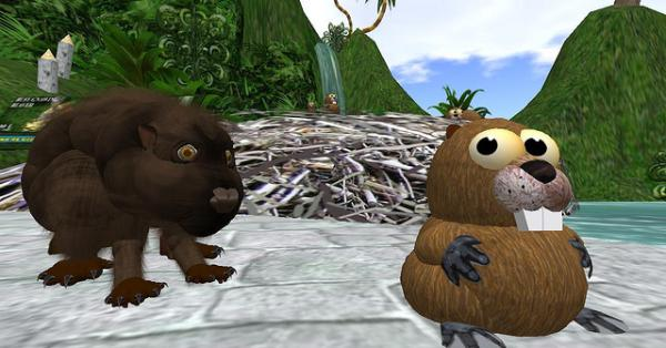 the beaver 25 Superb Cute Cartoon Animals