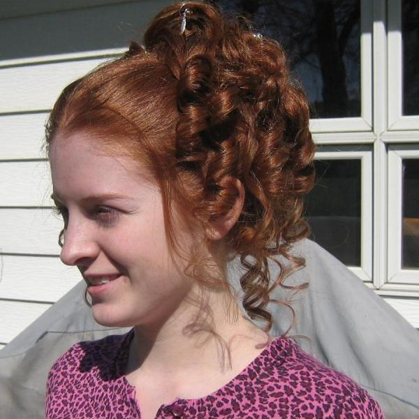 updo hairstyle 30 Cute Hairstyles For Curly Hair Which Looks Exotic