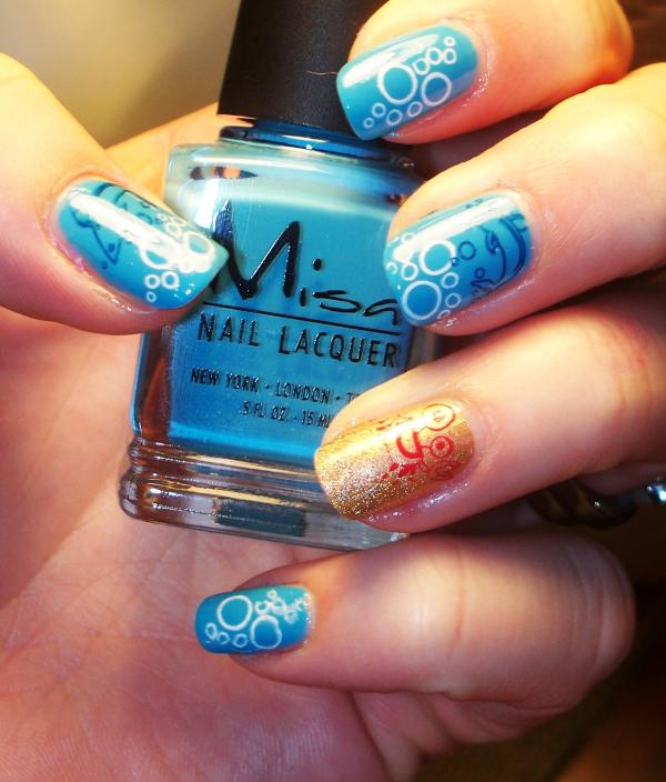 beach time 45 Cute Nail Designs You Will Definitely Love