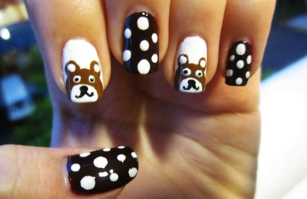 bear me 45 Cute Nail Designs You Will Definitely Love
