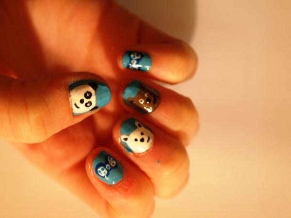 bear nail 45 Cute Nail Designs You Will Definitely Love