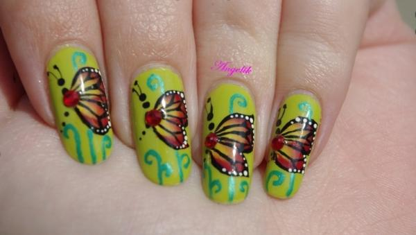 butterfly nail 45 Cute Nail Designs You Will Definitely Love