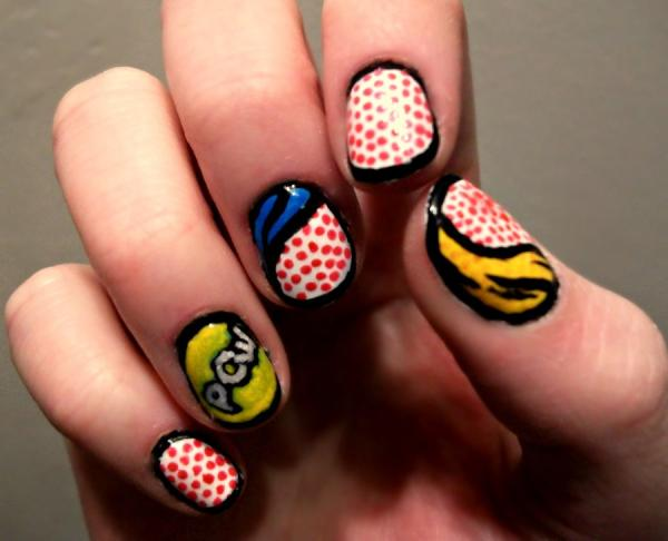 Comic Themed Nails