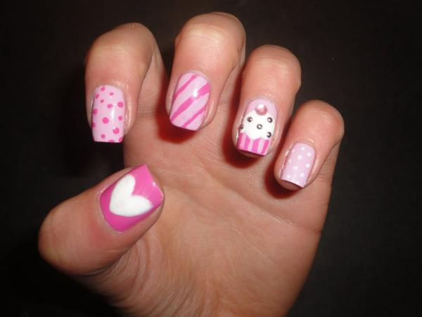 Cupcake Nail - 45 Cute Nail Designs You Will Definitely Love - SloDive