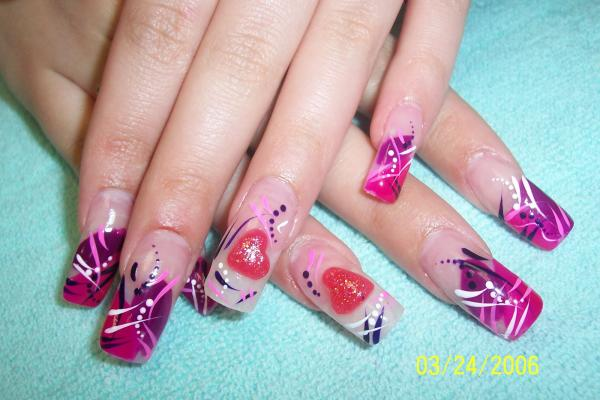 Cute Heart Nail Art