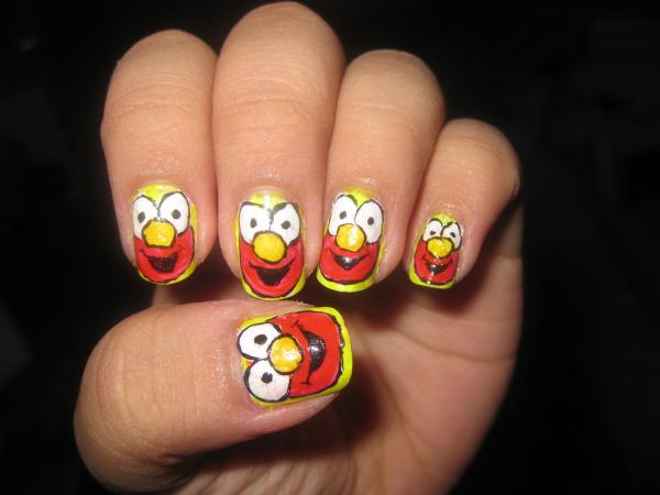 elmo nail 45 Cute Nail Designs You Will Definitely Love