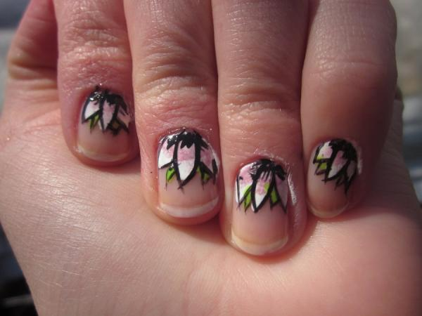 floral prom nail 45 Cute Nail Designs You Will Definitely Love