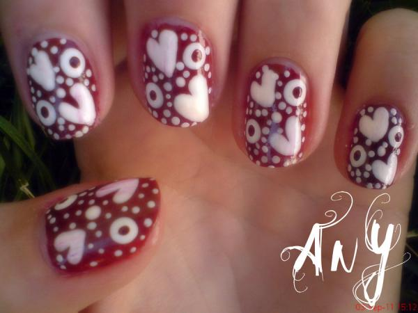 hearts nail design 45 Cute Nail Designs You Will Definitely Love