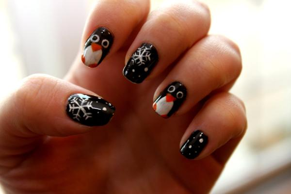 penguin nail 45 Cute Nail Designs You Will Definitely Love
