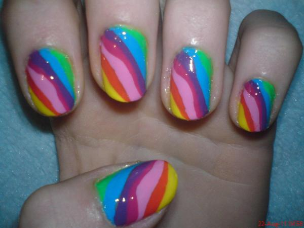 rainbow nail design 45 Cute Nail Designs You Will Definitely Love