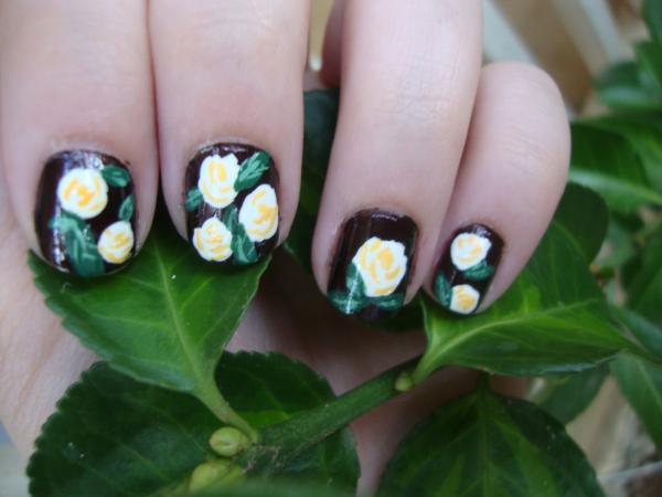 rose nail 45 Cute Nail Designs You Will Definitely Love