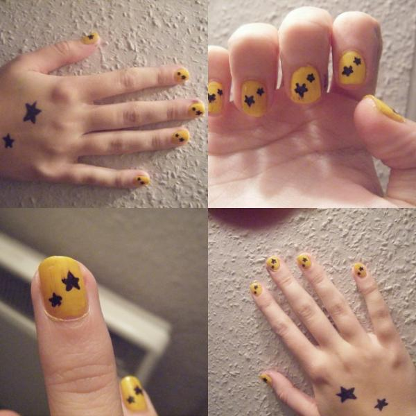 45 cute nail designs you will definitely love slodive star nail design prinsesfo Images