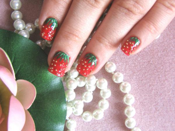 strawberry nail 45 Cute Nail Designs You Will Definitely Love