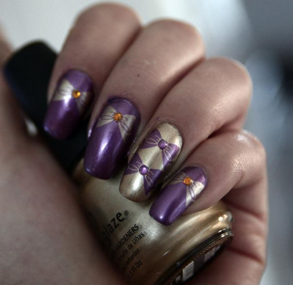 voilet nail art 45 Cute Nail Designs You Will Definitely Love