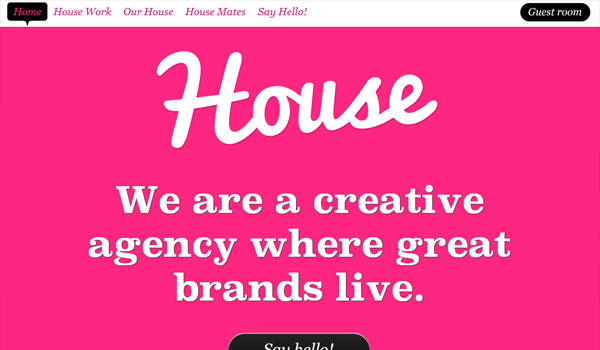 house creative 30 Design Agency Website Designs for Your Inspiration