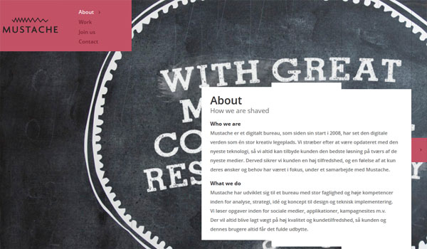 mustache 30 Design Agency Website Designs for Your Inspiration