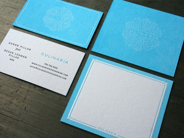 Culinaria business and place card