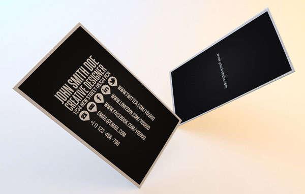 Clean Social Business Card