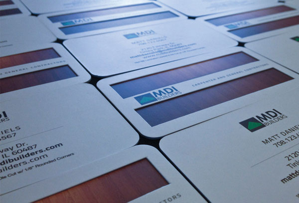 Die-Cut Layered Business Card
