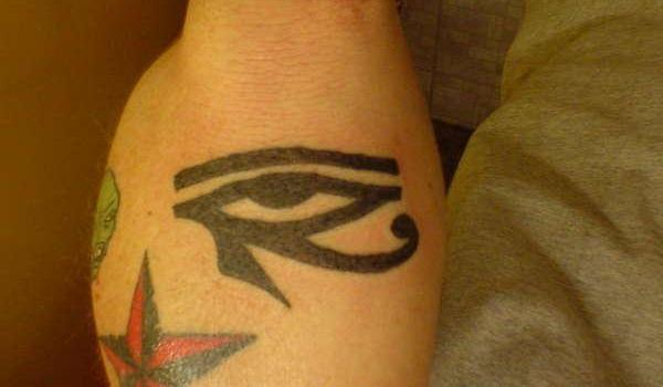 elbow eye of hours 25 Awesome Eye of Horus Tattoo Designs